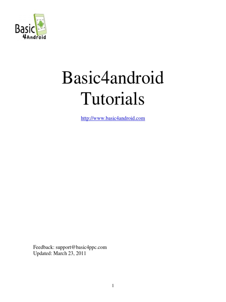 Basic4android Tutorial Pdf