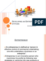 Entrepreneurialattitude