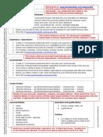 Free Resumes Sample Template