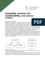 Essay Poverty Unsustainability Equality