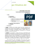 Los Riesgos Climáticos en El Perú