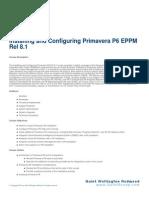 Installing and Configuring Primavera P6 EPPM Rel 8.1