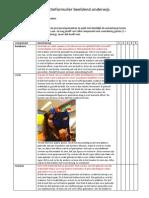 Reflectieformulier Beeldend Onderwijs Les 3