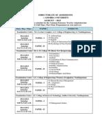 AURCET 2013 Examination Schedules 2013 18102013