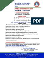 Info General MA Derecho 2 Trim 2014
