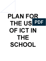 Action Plan for the Use of Ict in the School