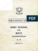 1952 Prospectus - High School for Boys, Potchefstroom, SA