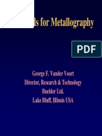 Standards for Metallography