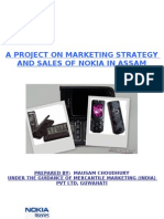 17444820 a Project on the Marketing Strategy and Sales of Nokia in Assam