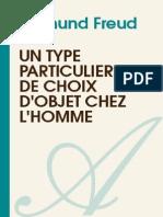 SIGMUND FREUD-Un Type Particulier de Choix Dobjet Chez Lhomme-[Atramenta.net]