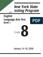 Year8 English Test 2009