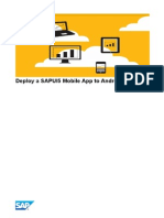 Deploy a SAPUI5 Mobile App to Android Device