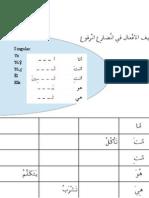 Conjugación verbos árabes