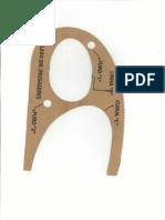 gabarito para farol de minlha Celta G1 - esquerdo