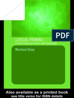 Michael Hoey Lexical Priming a New Theory of Words and Language 2005