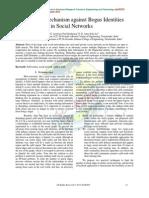Anti-Sybil Mechanism against Bogus Identities in Social Networks