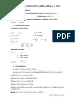 Esquema Resumen Matematicas 1 Eso