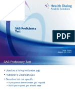 SAS Proficiency Test by Judy Loren