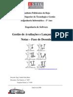 Jaejaneiro[Engenharia de software] - Gestão de Avaliações e Lançamento de Notas (Fase de Desenho)