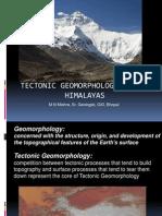 Tectonic Geomorphology Himalayas