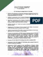 2015 Budget ERRATA [Summary of 3rd Reading Amendments]