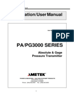 PA3000 Absolute & Gage Pressure Transmitter