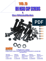 10.9 Metric Hex Head Cap Screws Pamphlet