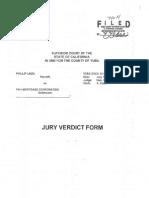 Linza v. PHH - Jury Verdict Form