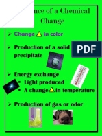 evidence of a chemical change poster