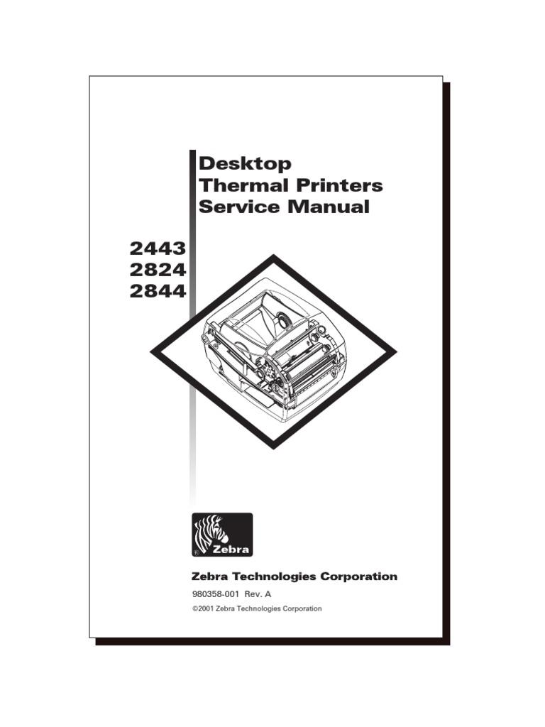 2844 Service Manual Zebra   Electrical Connector   Printer