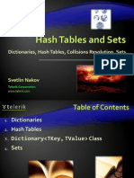 18. Hash Tables and Sets
