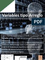 Variables Tipo Arreglo