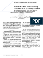 An Analysis of the Overvoltage in the Secondary Network, Considering a Transient Grounding Resistance