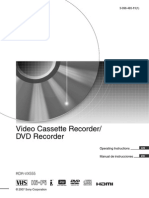 Sony Rdrvx555 User Guide Dvd-Vhs