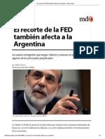 El Recorte de La FED También Afecta a La Argentina - MDZ Online