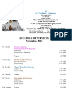 11. Schedule of Divine Services - November, 2014