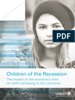 Unicef Children of the Recession
