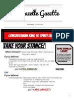 GazelleGazette Wednesday