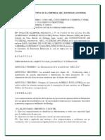 Acta Constitutiva de La Empresa ABC