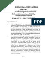 Mayors Statement 2012 2013 Full Budget Estimate