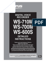 Ws-710m Ws-700m Ws-600s Instructions En