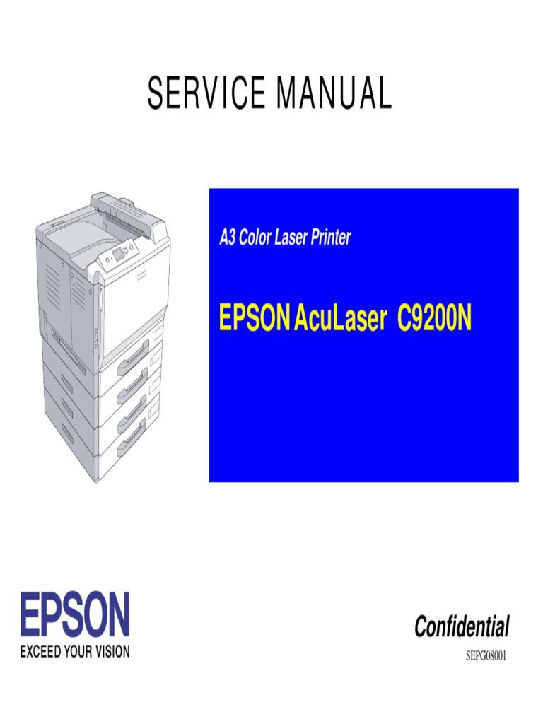 ALC9200N Service Manual | Printer (Computing) | Ac Power Plugs And Sockets