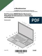 Dell Precision M6500 Mobile Workstation Datenblatt Mit Informationen Zu Einrichtung Und Funktionen