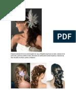 Elegante Peinado de Novia Semirecogido Con Raya y Flequillo Largo Hacia Un Lado