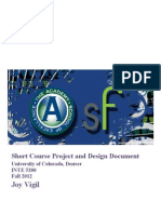 short course project and design document-vigil