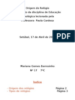 Educaçao Tecnologica - relógios