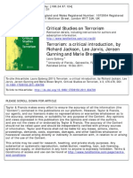 Terrorism, A Critical Introduction