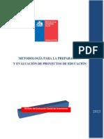 Metodología para la preparación y vealuación de Proyectos de Educación