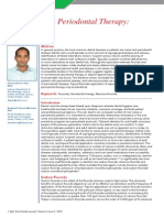 Fluorides in Periodontal Therapy