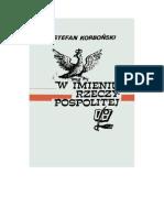 Korboński, Stefan - W Imieniu Rzeczypospolitej… - 1954 (Zorg)
